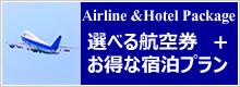 選べる航空券付き宿泊プラン