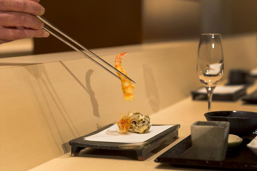 【夕朝食付】レストラン「中津川」で味わう至極の天ぷらコース&スパークリングワイン付宿泊プラン
