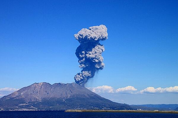 【どかーーーん】噴火割 桜島の噴煙の高さで割引しちゃいます☆