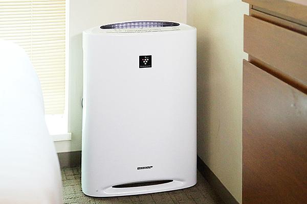 全客室、加湿機能付き空気清浄機完備!