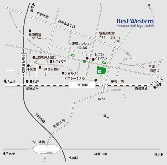 ベストウェスタンレンブラントホテル町田|電車でのアクセス