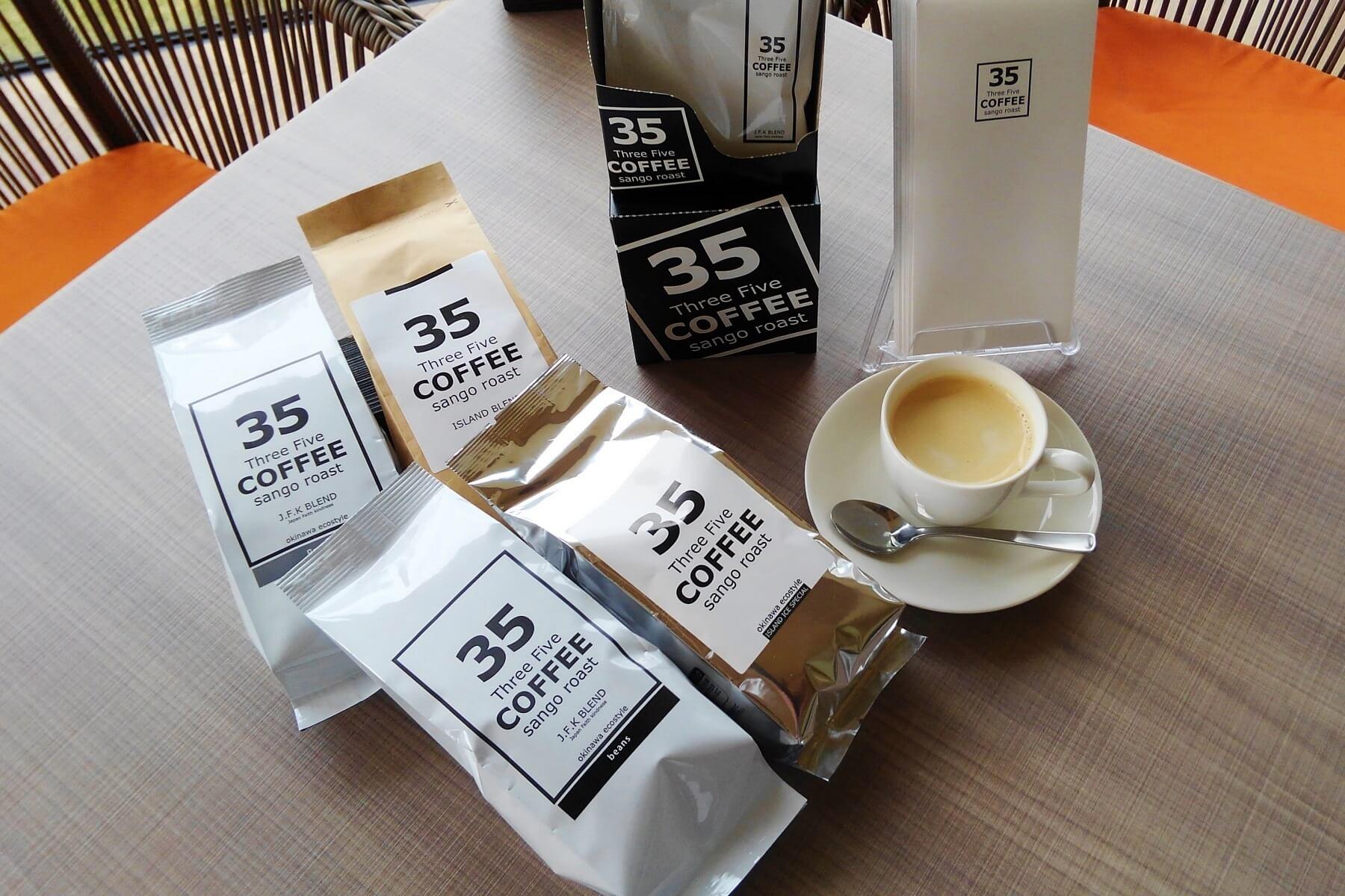沖縄限定!35コーヒーを販売中