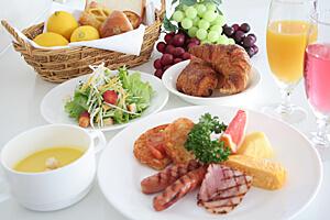 朝食ブッフェのご案内 (ホテルシェフが心を込めたお料理をご提供いたします)