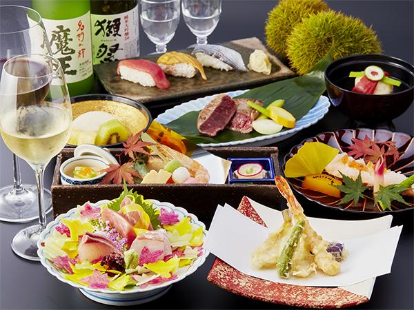 【中津川】秋の宴 6名様以上のご利用で主賓の方のお好みのお酒を進呈。