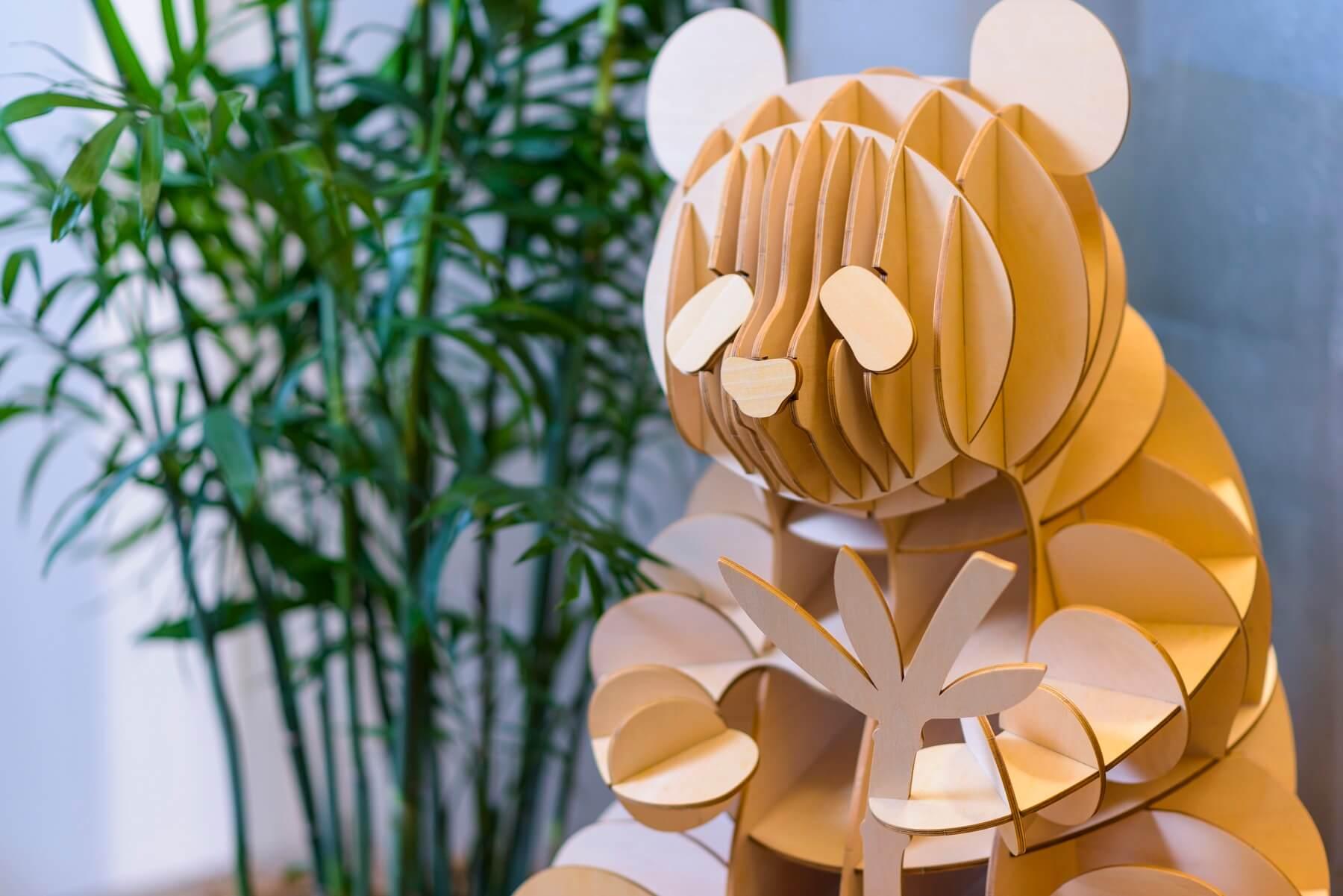 ki-gu-miパンダがロビーでお出迎え♡