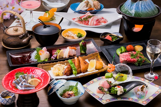【ディナー】 薩摩の郷土料理会席 5月梅の色月のメニュー