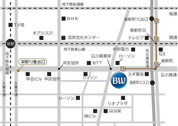 ベストウェスタンホテル名古屋 高速道路からのアクセス
