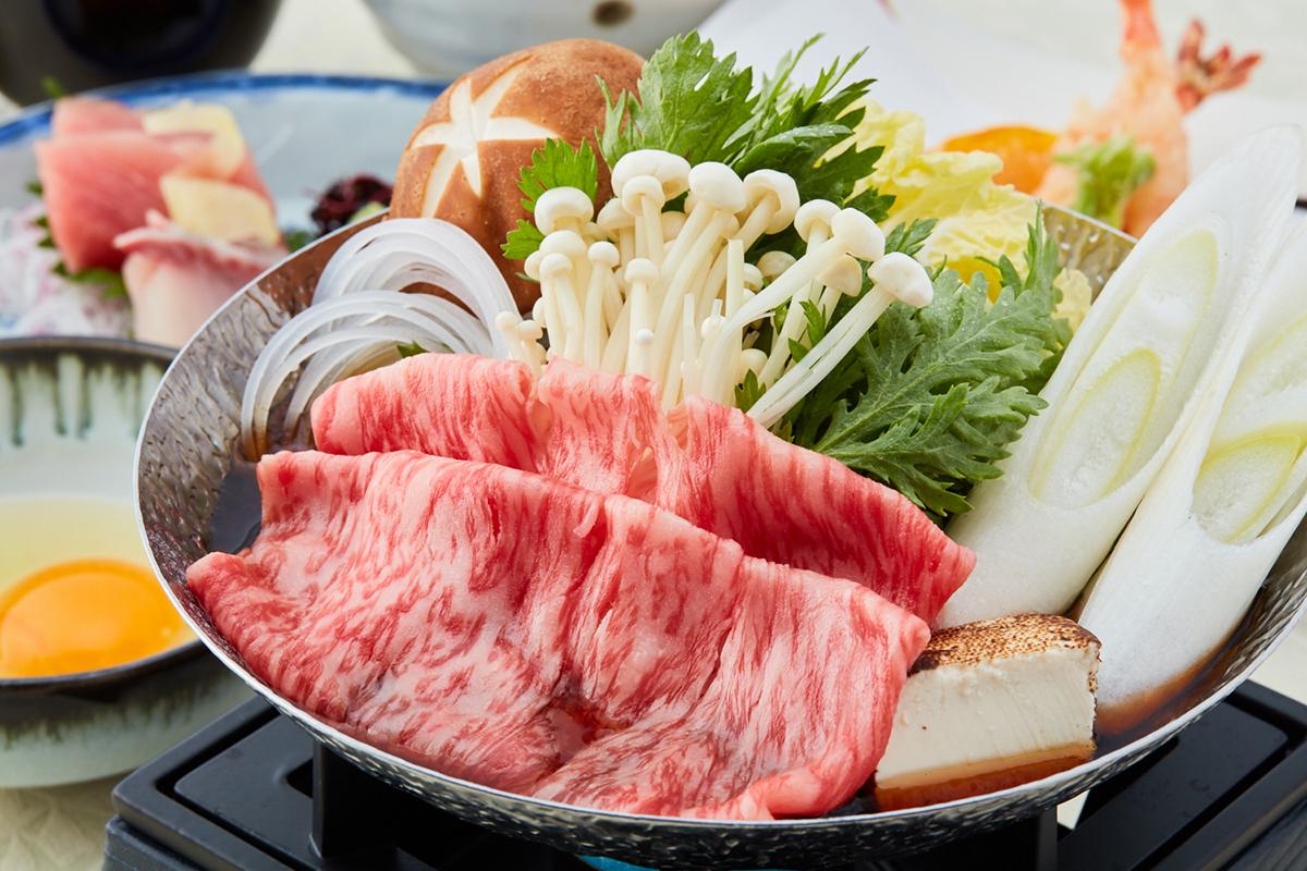 【中津川】ワンランク上の味わいを~黒毛和牛のすき焼き御膳